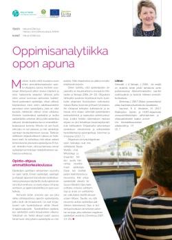 Oppimisanalytiikka opon apuna - kuva SeOppi-lehden artikkelisivusta