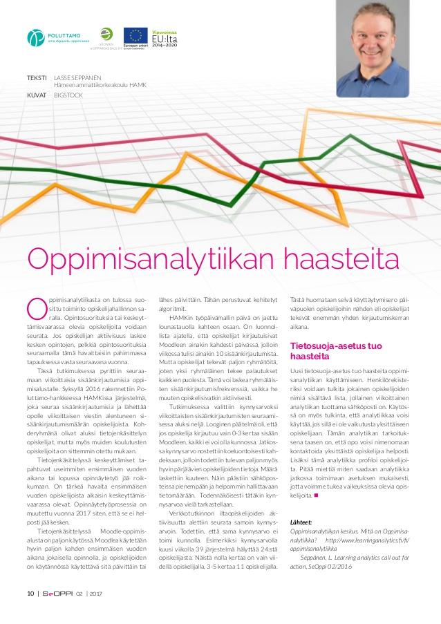 Oppimisanalytiikan haasteita | Poluttamo